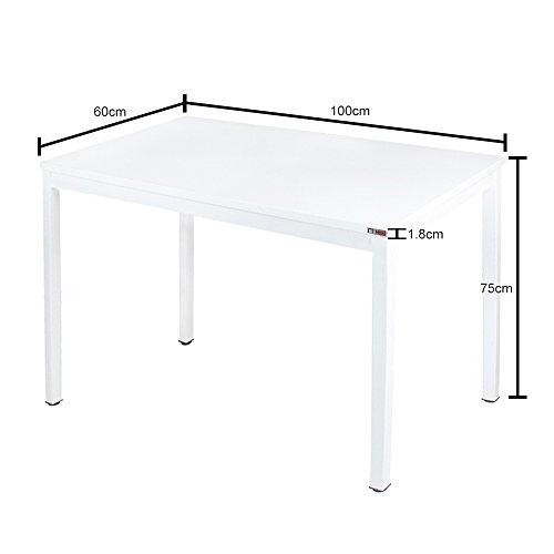 Need Modern Esstisch 100x60 cm Esszimmertisch Küchentisch Tisch klein, Weiß AC3DW-100