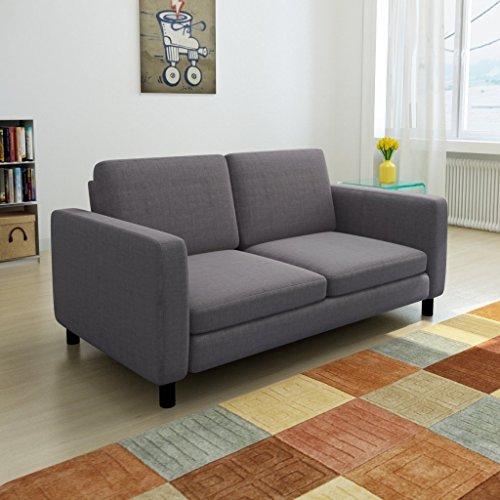 vidaXL 2er Stoffsofa 2-Sitzer Loungesofa Couch Polstersofa Zweisitzer Sitzmöbel