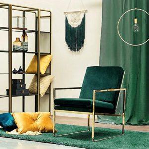 Mr.do Samt Sessel Stuhl Grün Dunkelgrün Lounge Sessel Skandinavisches Design, Kann Farben Anpassen, Weiß, Beige, Braun, Grau, Gelb, Orange