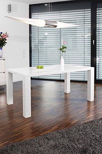 SalesFever Esstisch weiß Hochglanz Luke L 200 x B 100 cm