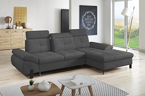polsterecke opti eckcouch ecksofa schlafsofa polstersofa grau m bel24 shopstyles. Black Bedroom Furniture Sets. Home Design Ideas
