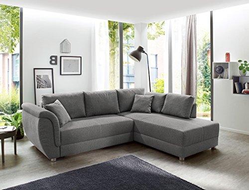 Wohnlandschaft Tapio 256x196 cm grau Schlafsofa Eckcouch Couch Sofa Polsterecke Bettkasten Wohnzimmer