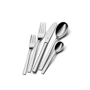 WMF Palermo Besteckset, 30-teilig, für 6 Personen, Monobloc-Messer, Cromargan Edelstahl poliert, spülmaschinengeeignet