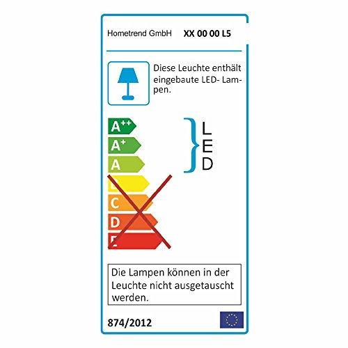 Pharao24 Wohnkombination in Weiß Hochglanz Eiche hell (4-teilig) LED Beleuchtung