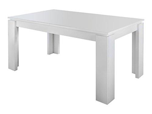 trendteam Esstisch Küchentisch Universal, 160 x 77 x 90 cm in Weiß erweiterbar durch Ausziehfunktion auf 200 cm
