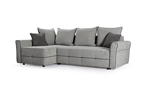 kleines ecksofa couch polsterecke polstersofa eckcouch velours sofa grau christa ecksofa links. Black Bedroom Furniture Sets. Home Design Ideas