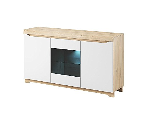 kommode sideboard avallon mit led beleuchtung buche ibsen. Black Bedroom Furniture Sets. Home Design Ideas