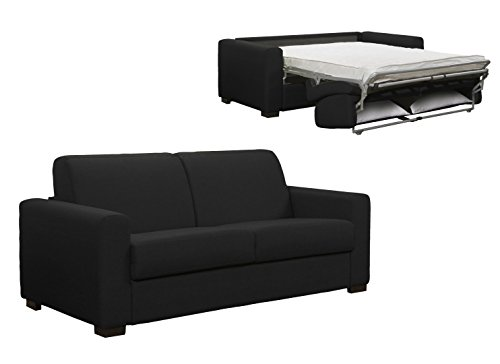 Schlafsofa 3-Sitzer grau anthrazit Schlafsack 2Personen