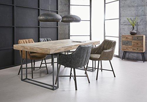 SalesFever Esszimmertisch aus Holz 200 x 100 cm Lesley