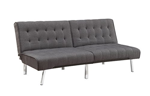 Atlantic Home Collection Schlafsofa, Stoff, Grau