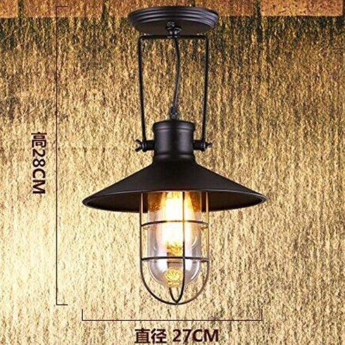 hahaemall Moderne Industrielle Metall Glas Pendelleuchte Loft Lampe Retro Deckenleuchte Lampe