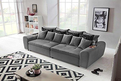 Big Sofa, Mega-Sofa, XXL-Sofa, Polstersofa, Webstoff, grau, dunkelgrau, anthrazit, Garnitur