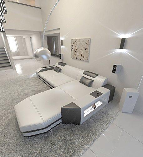 Designersofa PRATO L-Form mit LED Beleuchtung