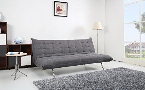 Pedro Schlafcouch / Schlafsofa / Klappcouch Polyester grau