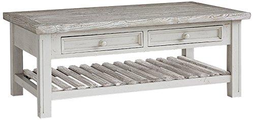 Robas Lund, Couchtisch, Wohnzimmertisch, Opus, Kiefer/Massivholz/weiß, 140 x 55 x 80 cm, FW608T37