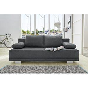 JOB 317/09 LUZIO grau Jugendsofa Schlafsofa Sitzsofa Bettsofa Polstersofa Couch mit Bettfunktion ca. 196 cm