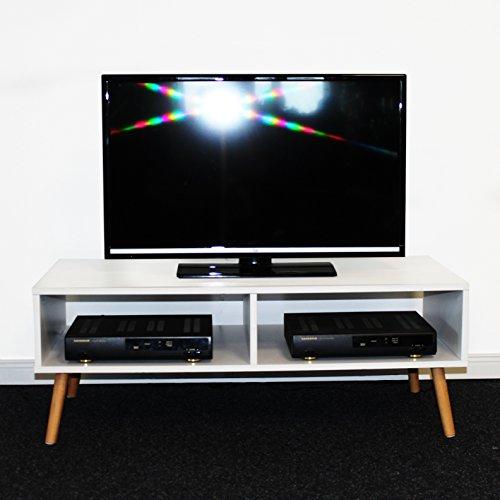 L living tv tisch fernsehtisch skandinavisch eiche s gerau optik lowboard modern wei ca 100 x - Tisch skandinavisch ...