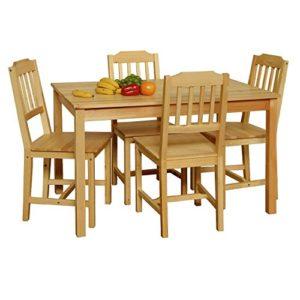 Essgruppe mit Tisch und 4 Stühlen Kiefer Massivholz