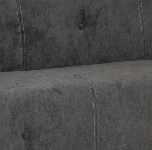 B-famous 3-Sitzer Sofa Claire, 183 x 85 cm, Luxus Mikrofaser, anthrazit/grau