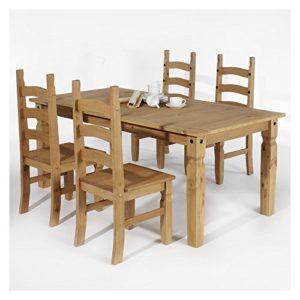 IDIMEX Essgruppe Tischgruppe Essgarnitur TEQUILA Mexico Möbel 1 Tisch + 4 Stühle