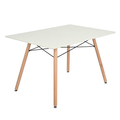 Esstisch ihouse skandinavischen Retro Stil modernen Esstisch, rechteckig, weiß