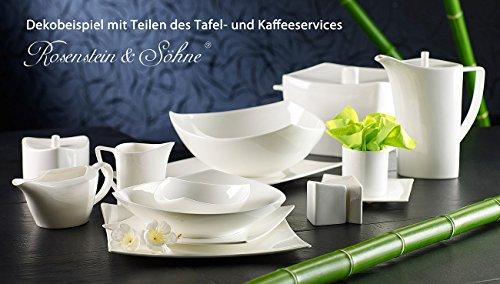 Rosenstein & Söhne Bone China Geschirr: Tafelservice kuài aus 45% Bone China, 6 Personen (China Bone Porzellan)