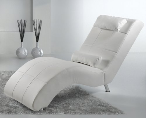 B-famous Relaxliege Enjoy 165 x 66 cm, Kunstleder, weiß