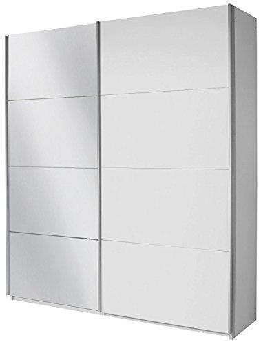 Rauch Schwebetürenschrank 2-türig Weiß mit Spiegel, BxHxT 226x230x62 cm