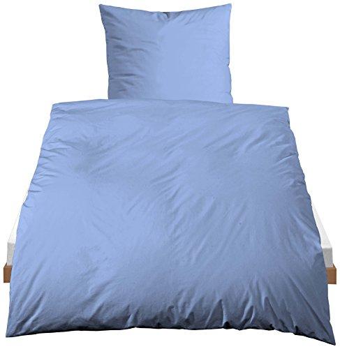 Castell Baumwoll-Bettwäsche, Nach Öko-Tex Standard 100, 80 x 80 + 135/200 cm, Blau