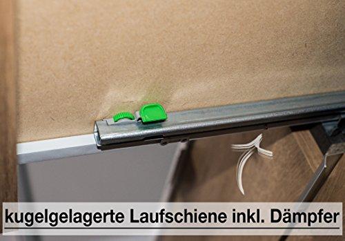 Express Möbel Nachtkonsole mit drei Schubladen Weiß Hochglanz Lack, Korpus Graphit Nachbildung, BxHxT 50x61x42 cm, Art Nr. 30805-967