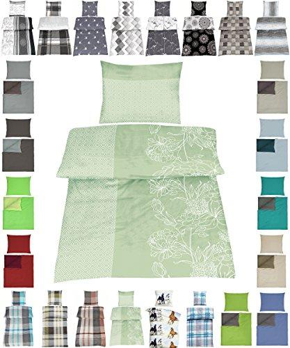 Baumwolle Bettwäsche Renforce 2 Größen viele schöne Designs, 4 tlg. 2x 135x200 cm + 2x 80x80 cm Hera