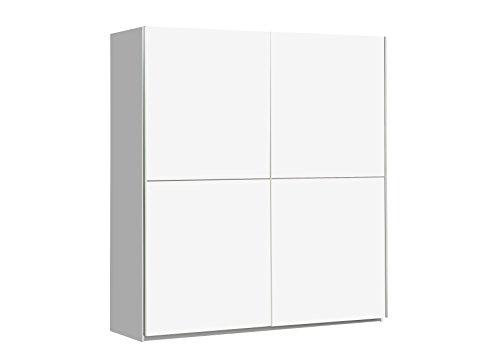 NEWFACE WNNS822X1-120 Winner Schwebetürenschrank mit 2 Türen, Holz, weiß matt, 170.3 x 61.2 x 190.5 cm