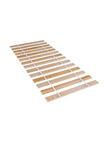 Amazinggirl Rollrost Holz Kiefer Lattenrost 80x200 100x200 stabil Hochbett Leisten Holzlatten unverstellbar für alle Matratzen und Kinderbetten Bettrost Bettrahmen (90x200)