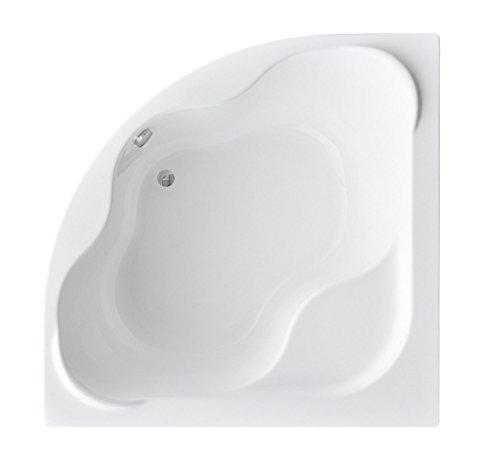 EXCLUSIVE LINE Eckbadewanne Eckwanne Badewanne COMFORT 150x150 cm mit Wannenfüße und Ablaufgarnitur