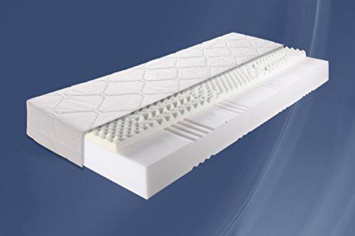 22cm - Sensation Dreams von Breckle produziert für PaoloCollaner Memory 7 Zonen Visco - Schaum Matratze mit Aloe Vera Bezug, Härtegrad 2 -- (160x200 cm)