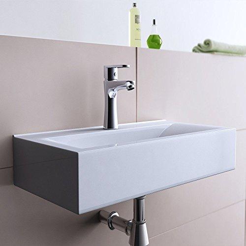 BTH: 60x31x11 cm Design Hängewaschbecken Brüssel118g, aus Keramik, Hängewaschbecken, Waschtisch, Waschplatz, Waschbecken, Waschschale