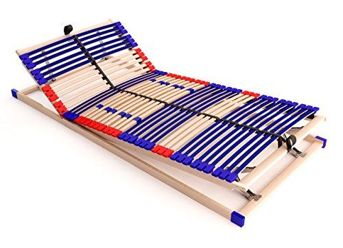 stabiler Lattenrost 100% BUCHE Lattenrhamen - Kopf- und Fußteil verstellbar - SCHULTERFRÄSUNG, 7 Zonen, 42 Federleisten, Härte-Regulierung, Mittelgurt, SCHLUMMERPARADIES - SLEEP BEST 42 VARIO PLUS unmontiert ( 90x200 cm )
