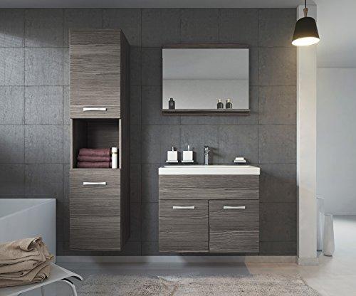 Badezimmer Badmöbel Montreal 60 cm Waschbecken Bodega - Unterschrank Hochschrank Waschtisch Möbel