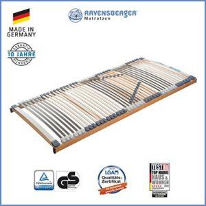 Ravensberger Matratzen Medimed® Lattenrost | 7-Zonen-Buche-Lattenrahmen | 44 Leisten| starr| MADE IN GERMANY - 10 JAHRE GARANTIE | TÜV/GS 100x200 cm