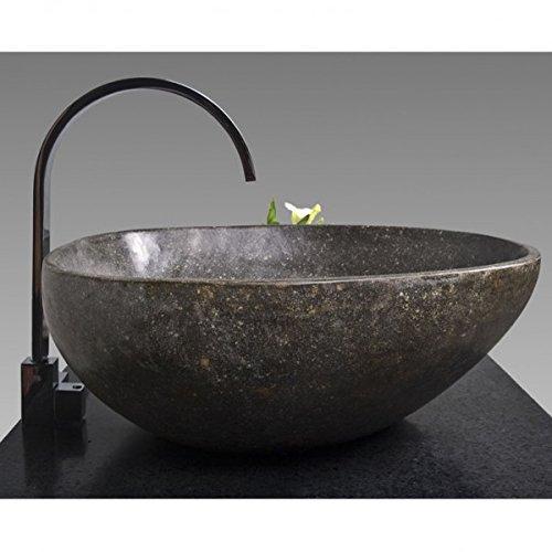 Wohnfreuden Naturstein Waschbecken Waschbecken aus Stein in 40 cm ❘ Steinwaschbecken für ihr Gäste WC Bad   Versandkostenfrei ✓