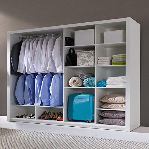 ordu kleiderschrank schwebet renschrank in matt mit spiegel wei 200 cm m bel24 sofas. Black Bedroom Furniture Sets. Home Design Ideas
