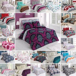 BUYMAX Bettwäsche Bettgarnitur Bettbezug Deckenbezug 2-3 teilig mit Reißverschluss Baumwolle OEKO-TEX® (135x200 cm, Design 10)