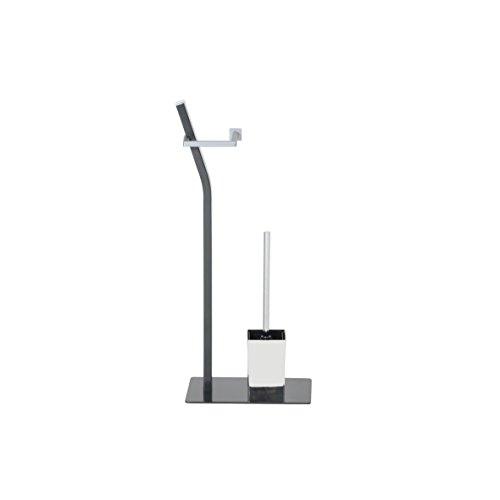 ribelli toilettenpapierhalter freistehend mit klob rste wc. Black Bedroom Furniture Sets. Home Design Ideas