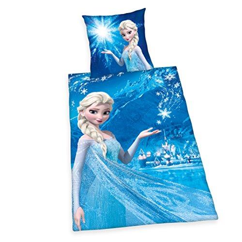 Herding 4479253050412 Disney's Die Eiskönigin Bettwäsche, Baumwolle, blau, 135 x 200 cm