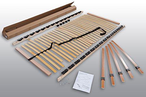 Betten ABC Lattenrost Max 1 NV zur Selbstmontage / Lattenrahmen in 140 x 200 cm mit 28 Leisten und Mittelzonenverstellung - geeignet für alle Matratzen