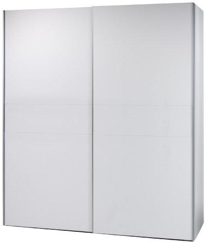 Stella Trading 58-301-17 Victor 2 Schwebetürenschrank Bauchbinde, circa 170 x 195 x 63 cm, weiß