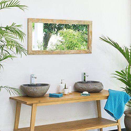 WOHNFREUDEN Naturstein Waschbecken rund oval 40 cm poliert ✓ Stein Aufsatzwaschbecken für Gäste WC Bad ✓ Stein-Handwaschbecken für Waschplatz ✓ schnell & versandkostenfrei ✓
