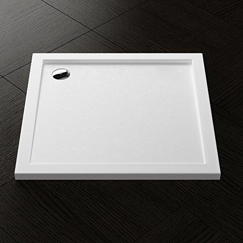 Duschwanne Duschtasse Lucia/Faro in weiß inkl. AL02, Form: Quadratisch, BTH: 90x90x4cm