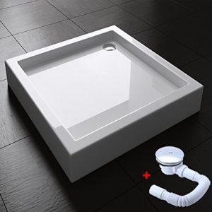 BTH: 90x90x14cm, Duschwanne Faro1H, Inkl. AL01, Material: Acryl, Form: Quadratisch