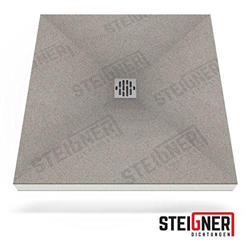 Duschelement MINERAL BASIC Duschboard befliesbar 90x120 cm Ablauf WAAGERECHT - EPS Bodenelement ebenerdig barrierefreie Duschwanne bodengleich
